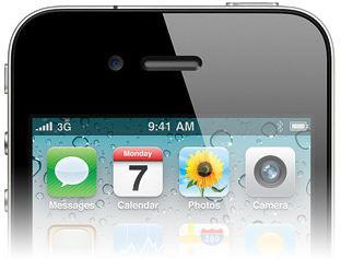 Barra de menus preta no iPhone