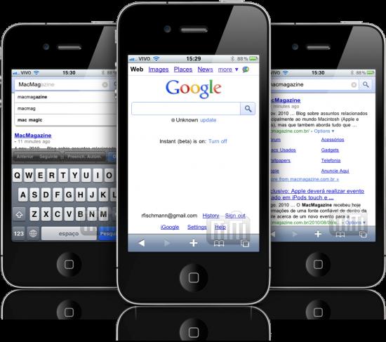 Google Instant em iPhones