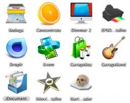 Ícones bagunçados no Mac OS X