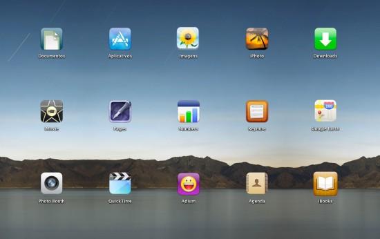 Launchpad improvisado no Mac