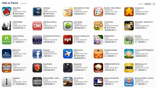 Hall da Fama na App Store