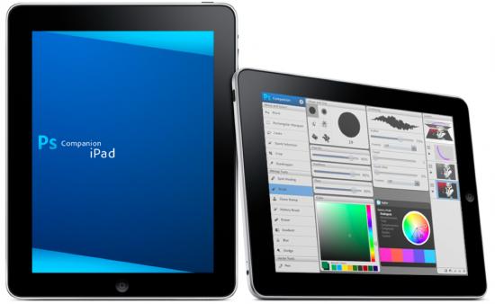 iPad e app companheiro do Photoshop
