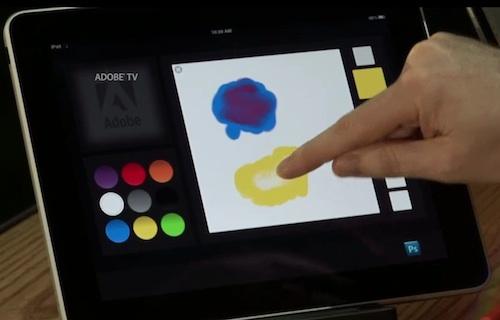 iPad e misturador de cores do Photoshop