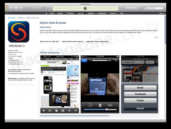 Skyfire na App Store