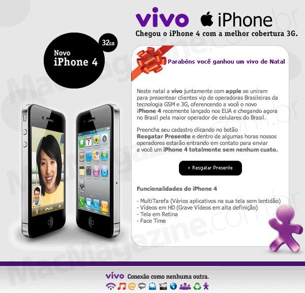 Golpe usando Vivo e iPhone 4