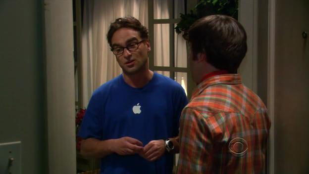Apple em Big Band Theory