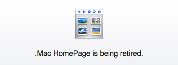 .Mac HomePages se aposentando