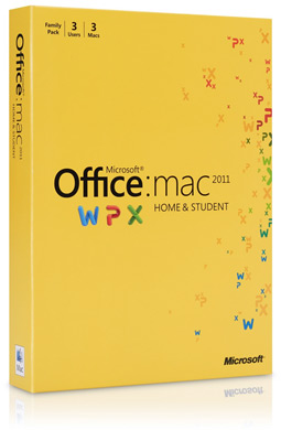 Caixa do Microsoft Office 2011 Home & Student