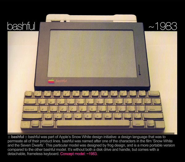 Protótipo Bashful de tablet da Apple