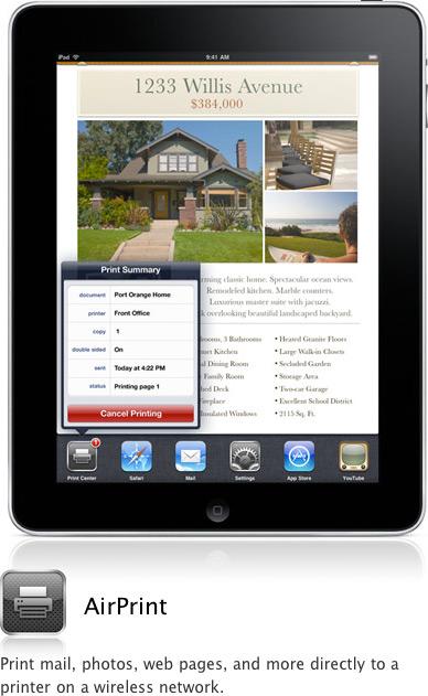AirPrint no iPad com iOS 4.2