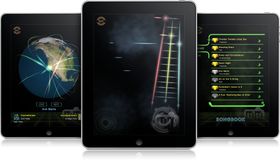 Magic Fiddle em iPads