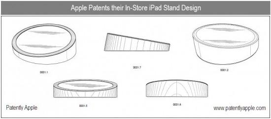 Patente de stand de mostruário para iPads