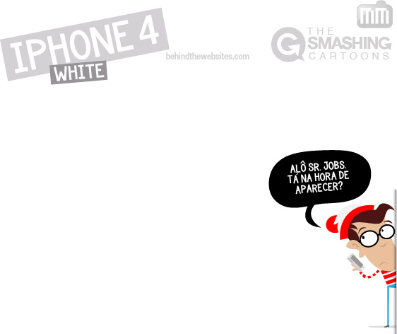 The Smashing Cartoons - iPhone 4 branco