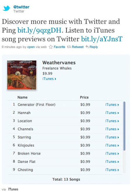 Exibição de previews no Twitter.com