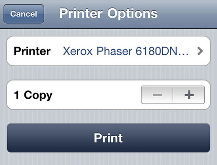 AirPrint no iOS 4.2