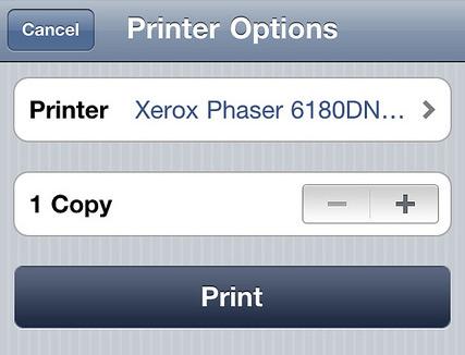 AirPrint no iOS 4.2