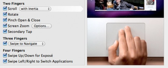Rolagem inercial no Mac OS X