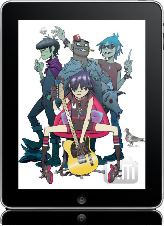 Gorillaz no iPad