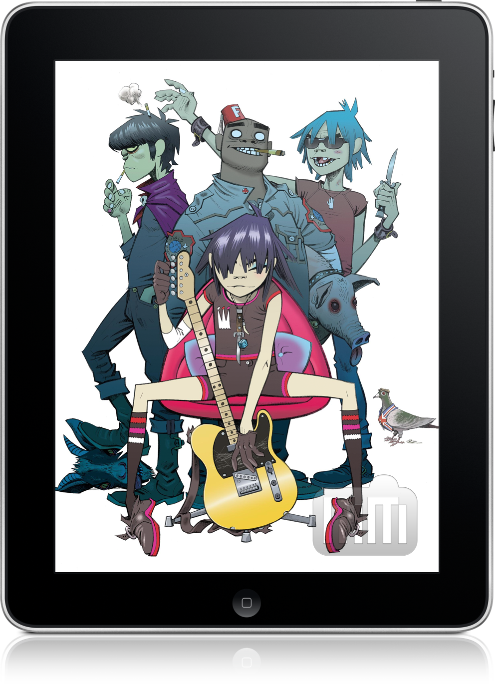 Gorillaz no iPad