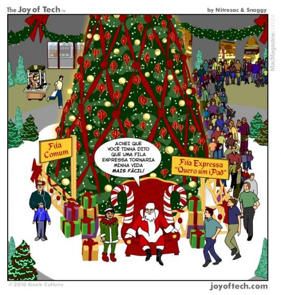 Joy of Tech - Fila expressa para o Papai Noel