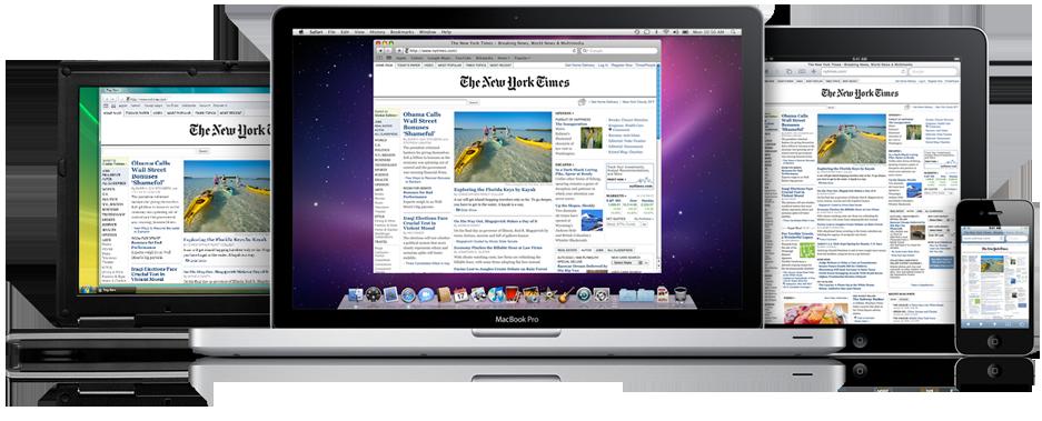 Safari no Mac, iPhone, iPad e PC