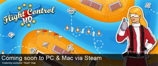 Flight Control HD para Mac via Steam