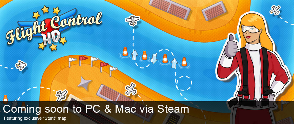 Flight Control HD para Mac via Steam