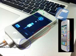 iPhone 4 branco CDMA na Verizon Wireless - Covering Web