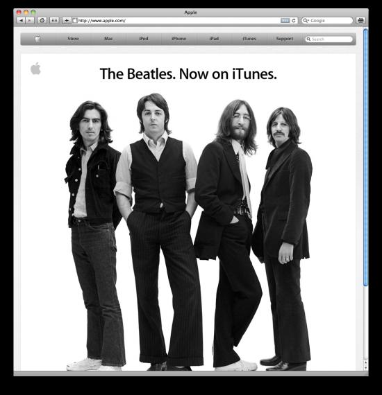 Beatles no Apple.com