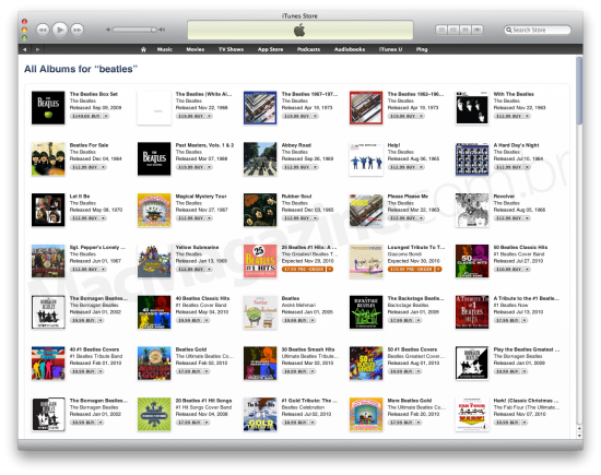 Beatles na iTunes Store