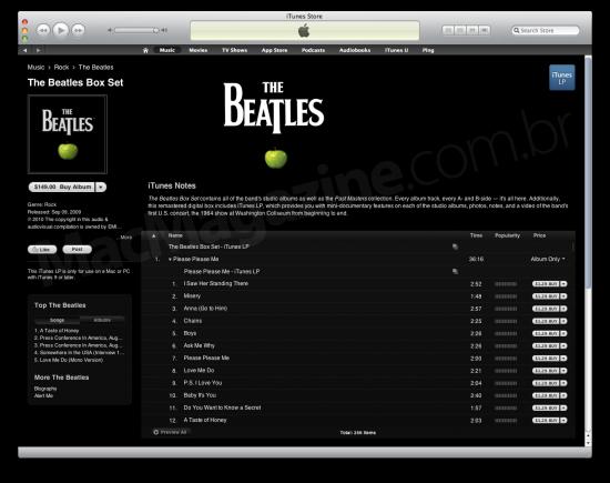 Beatles Box Set na iTunes Store