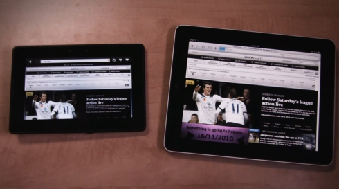 PlayBook e iPad