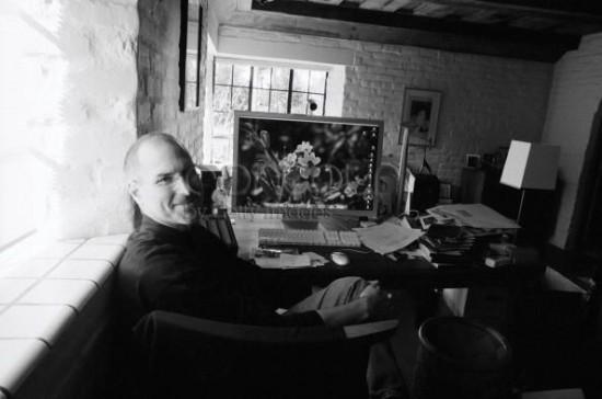 Steve Jobs em sua casa