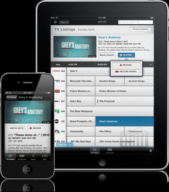 Xfinity TV - iPhone e iPad