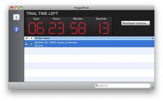 FingerPrint no Mac OS X