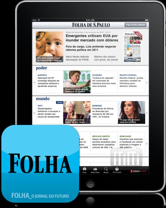 Folha.com para iPad