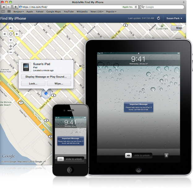Find My iPhone no Mac, iPhone e iPad