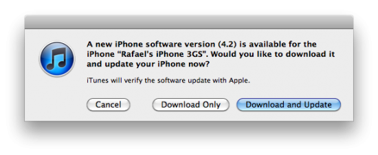 iOS 4.2 no iTunes