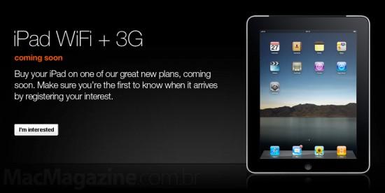 iPad na Orange do UK