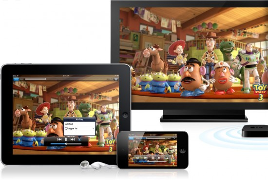 AirPlay em iPad, iPod touch e Apple TV