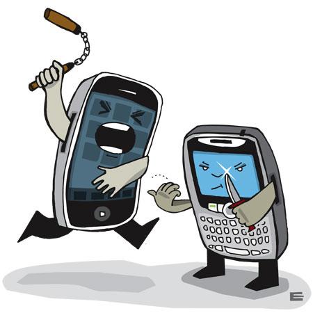 iPhone (Apple) vs. BlackBerry (RIM)
