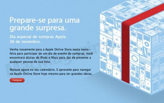 Dia especial de compras na Apple Online Store