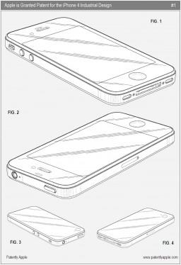Patente do design industrial do iPhone 4