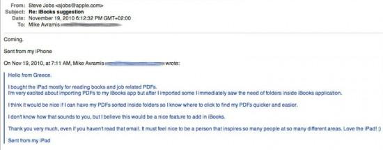 Steve Jobs sobre iBooks