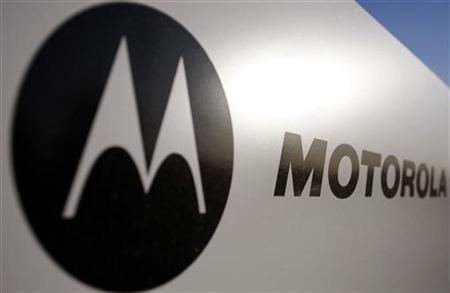 Logo em fachada de escritório da Motorola