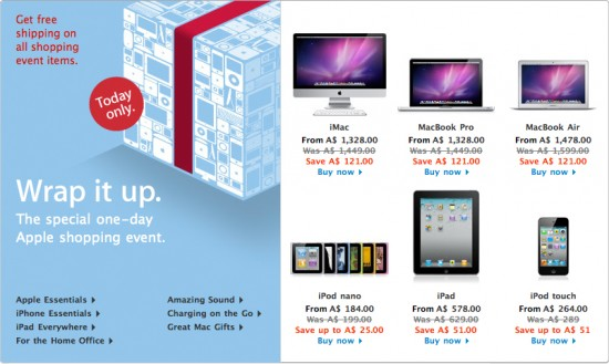 Black Friday na Apple Online Store australiana