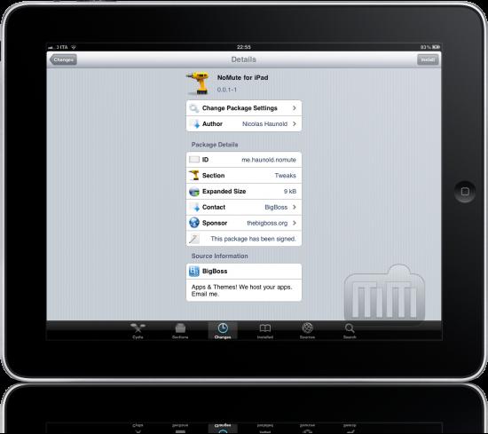 NoMute para iPad