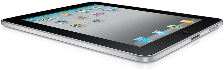 iPad deitado e de lado com o iOS 4.2.1