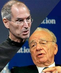 Steve Jobs (Apple) e Rupert Murdoch (News Corp.)
