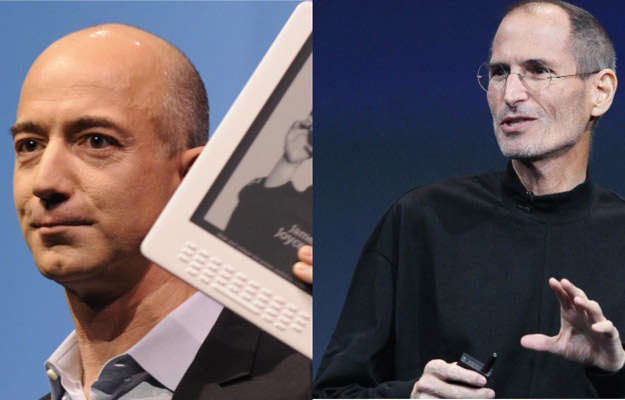 Jeff Bezos (Amazon) e Steve Jobs (Apple)